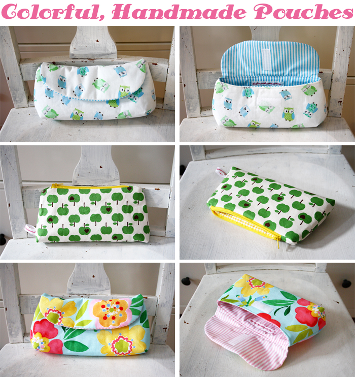 handmade pouches with the cutest fabrics luloveshandmade. Black Bedroom Furniture Sets. Home Design Ideas