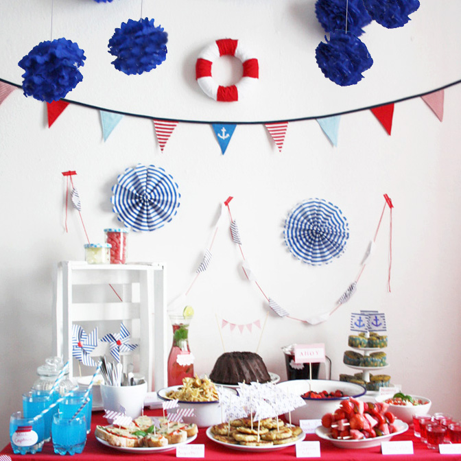 Maritime Party Decor Food Table Luloveshandmade