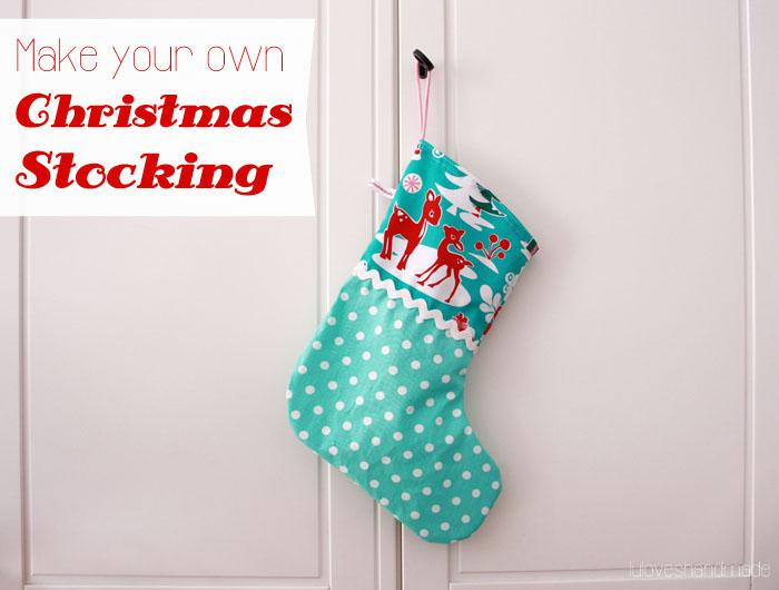How To Sew A Christmas Stocking Luloveshandmade
