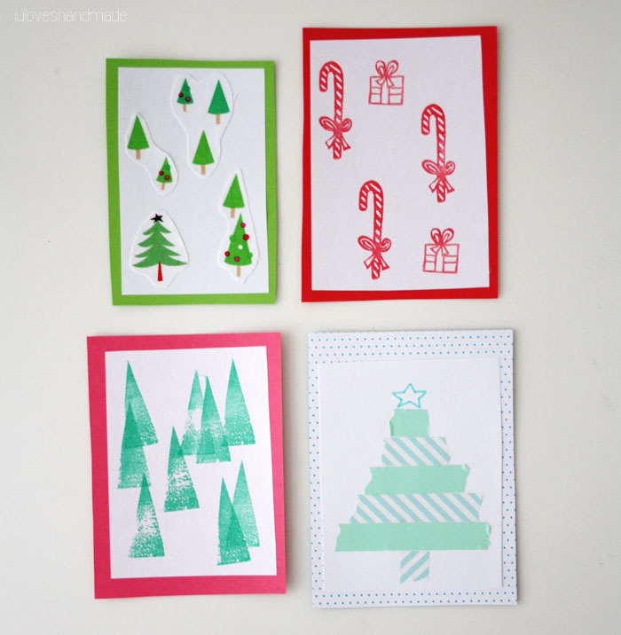DIY: Christmas Cards in 4 Different Ways - Luloveshandmade