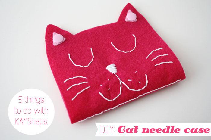 DIY with KAMSnaps: Cat Needle Case - Luloveshandmade