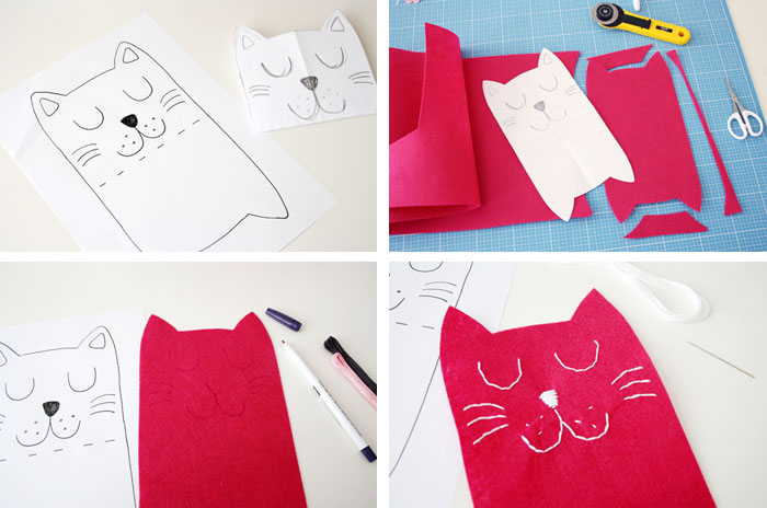 DIY with KAMSnaps: Cat Needle Case - Luloveshandmade