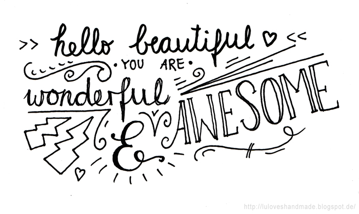 image relating to Pinterest Printables called Handlettering for Newcomers (with Pinterest) Valentines