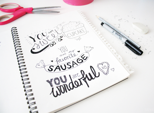 Handlettering for Beginners (with Pinterest) & Valentine