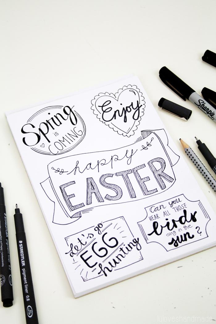 Diy Easter Handlettering And Free Printable Luloveshandmade