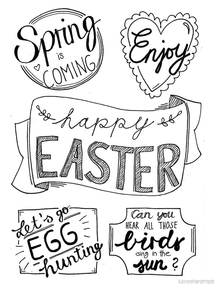 DIY: Easter Handlettering and Free Printable - Luloveshandmade