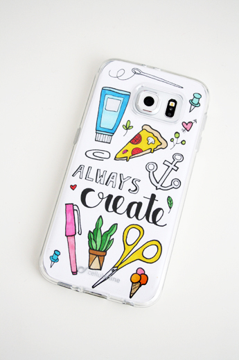 Free samsung galaxy s6 phone case printable to color it for Diy phone case template