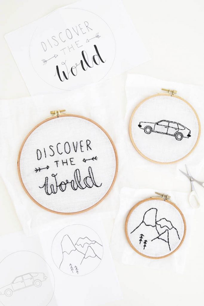 DIY: Road Trip Embroidery Hoop Wall Decor