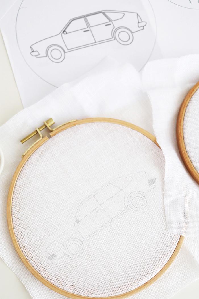 Diy road trip embroidery hoop wall decor luloveshandmade