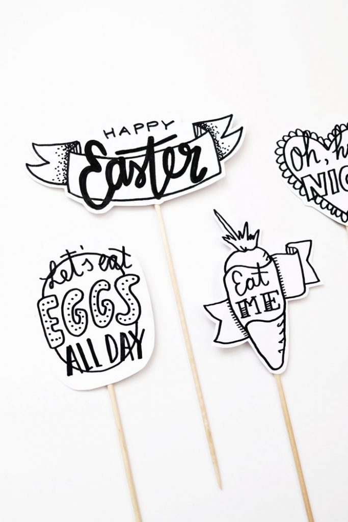 Easter and Springtime Handlettering Freebie