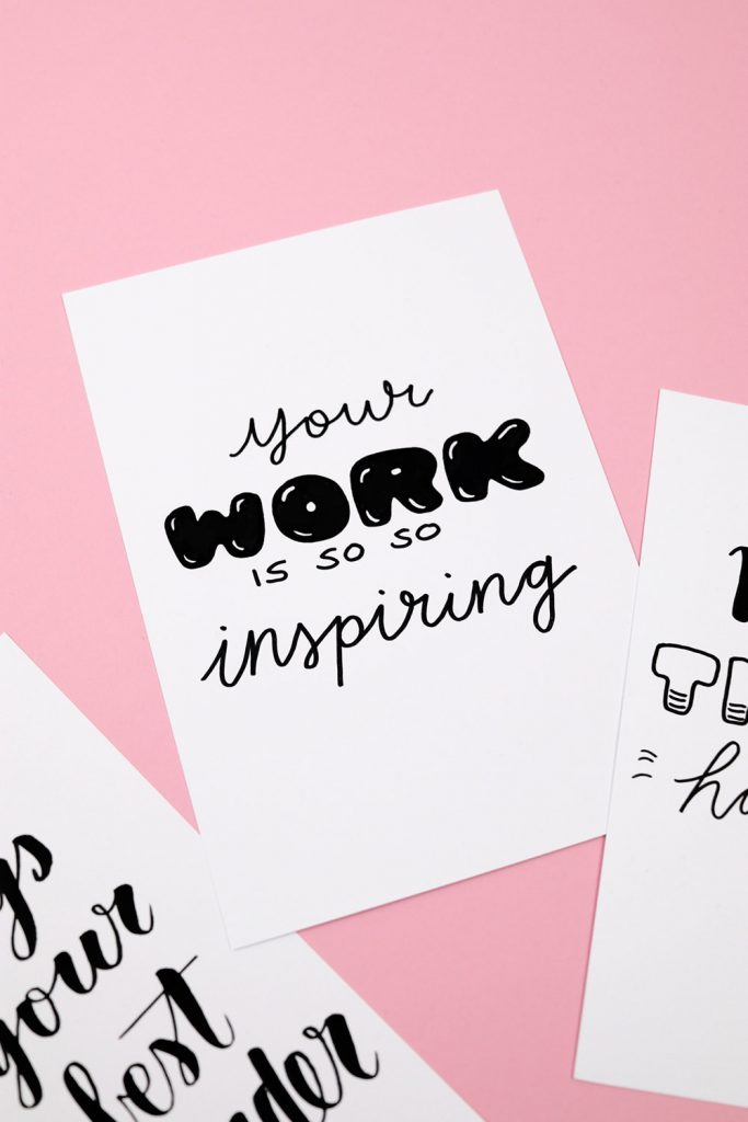 Free Printable: Motivating Handletterings (and a Giveaway)