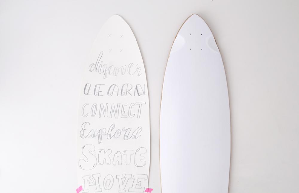 Longboarding in Berlin // DIY: Longboard Handlettering Project