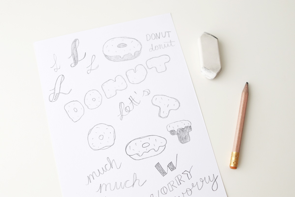 Handlettering tutorial donut worry too much lettering handlettering tutorial create your own donut worry lettering baditri Images