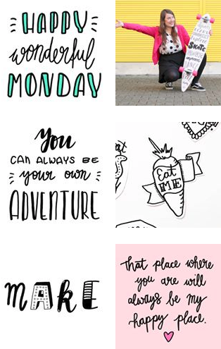 My Handlettering Adventures on Instagram