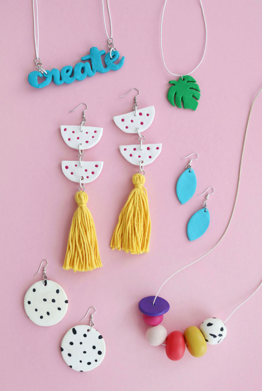 Diy Fimo Statement Earrings Five Further Fimo Diy Projects