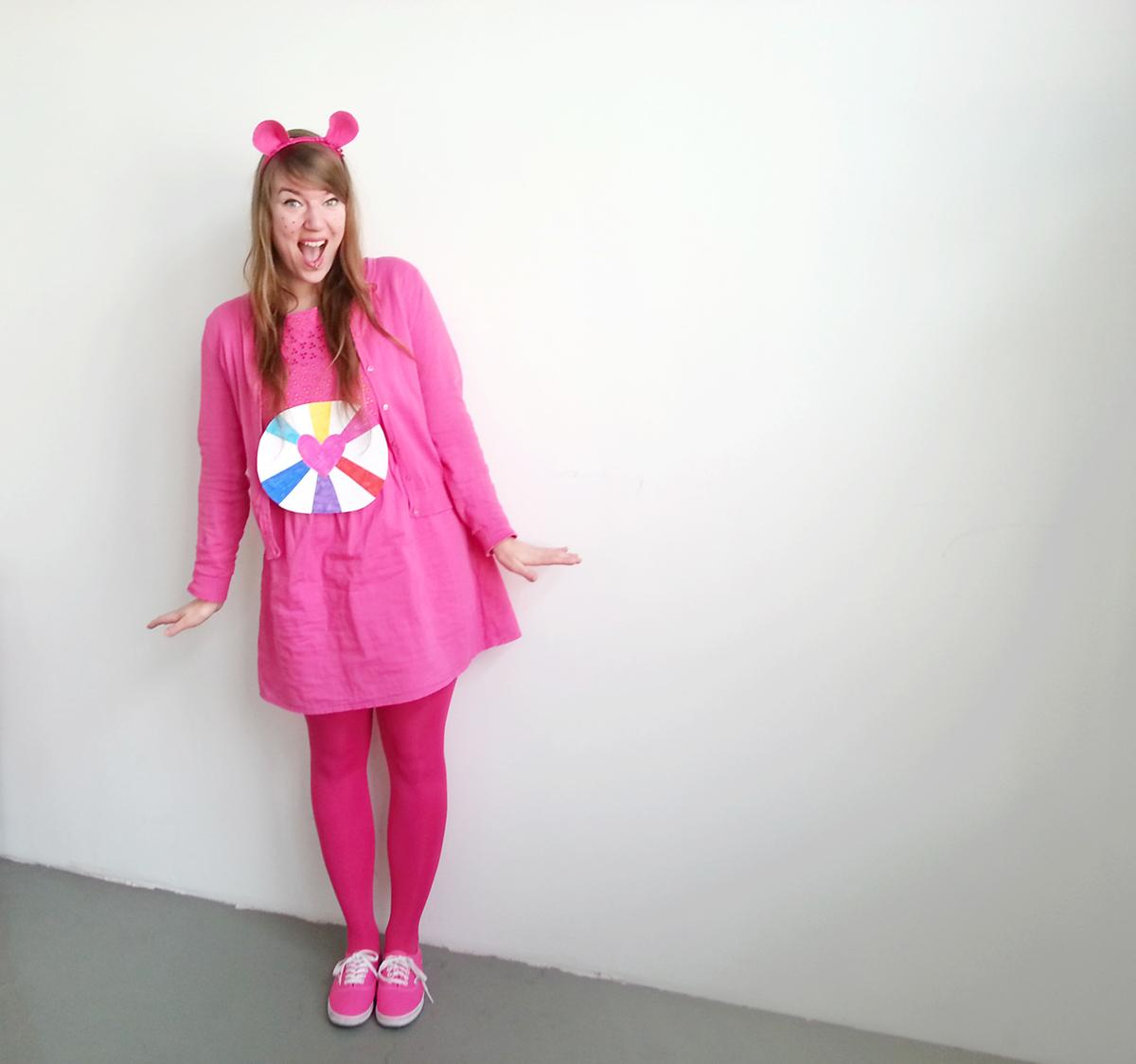 Luloveshandmade-Easy DIY Costumes-Kostüm selbermachen-9-Care Bear-Glücksbärchen